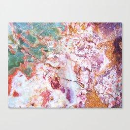Multicolor geode amethyst slice Canvas Print