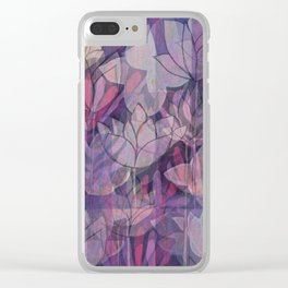 layered lotus Clear iPhone Case