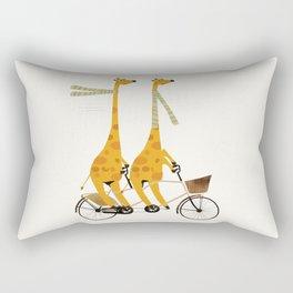 lets tandem giraffes Rectangular Pillow