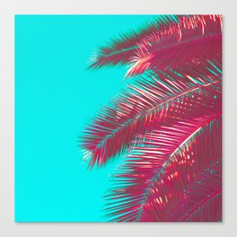 Neon Palm Canvas Print