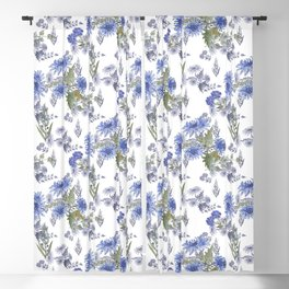 Watercolor floral pattern . 12 Blackout Curtain