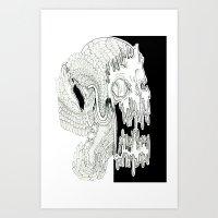 Skull in Contrast Art Print
