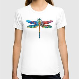 Colorful Dragonfly Art By Sharon Cummings T-shirt