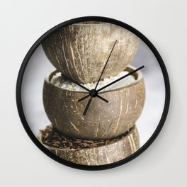 Assortment of different rice in bowls Wall Clock