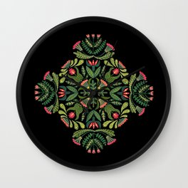 Little Red Riding Hood mandala Wall Clock