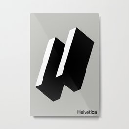 HAPPY HELVETICA Metal Print