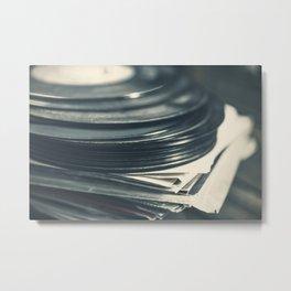 Vintage Vinyl Records 5 Metal Print
