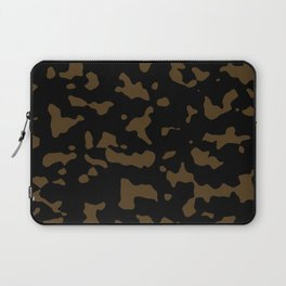 Camouflage Black and Tan Laptop Sleeve