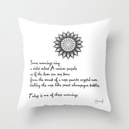 A Morning Poem Throw Pillow