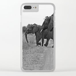 African Elephants on a Journey Clear iPhone Case