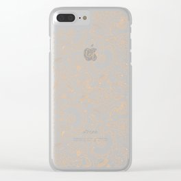 Fly EYES - Patterns ORANGE - flowers, floral Clear iPhone Case