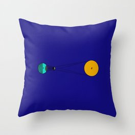 Solar Eclipse Illustrated Throw Pillow