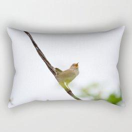 Wren Songbird Bird on Rusty Wire (Troglodytes) Rectangular Pillow