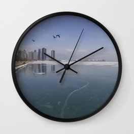 Chicago Winter Wall Clock