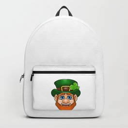 Leprechaun Smiling Face Irish St Patty_s Day Backpack