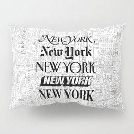 New York City black and white New York poster I love heart NYC Design black-white home wall decor Pillow Sham