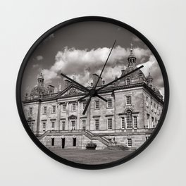 Black & White Stately Home Wall Clock