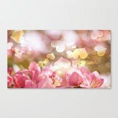 i heart Pink Crabapple Tree Blossoms Canvas Print