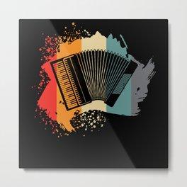 Accordion - Nice Retro Design Metal Print