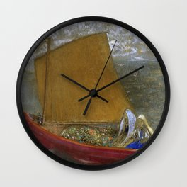 Odilon Redon - La Voile Jaune (The Yellow Sail) Wall Clock