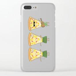 hawaiian pizza Clear iPhone Case