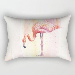 Flamingo Watercolor Flamingo Painting Rectangular Pillow
