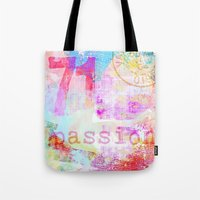 passion Tote Bags featuring Passion by LebensART
