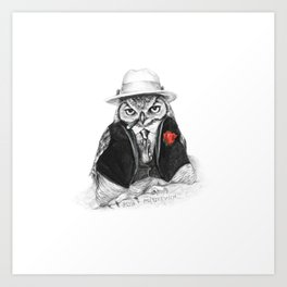 Owl Capone Art Print