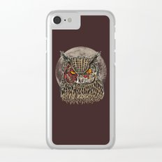 Zombie Owl Clear iPhone Case