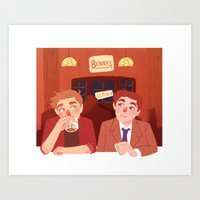 bar Art Prints featuring bar by Lauren Steele