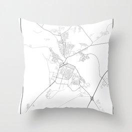 Minimal City Maps - Map Of Borisov, Belarus. Throw Pillow