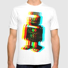 RETROBOT Mens Fitted Tee White SMALL