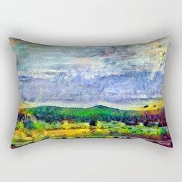 From Sunriver: Mt. Bachelor (Salt Watercolor) Rectangular Pillow