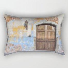 Colonial Façade in Antigua Guatemala Rectangular Pillow