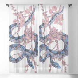 Jungle Snake Sheer Curtain