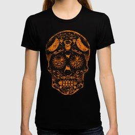 Strongman Sugar Skull, Dia De Los Deadlift T-shirt