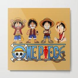 Luffy kids the Pirates - OnePiece Metal Print