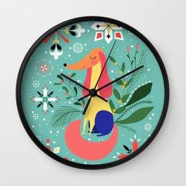 Happy Dog Year Wall Clock