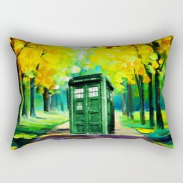 PAINTING TARDIS Rectangular Pillow