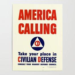 America calling Poster