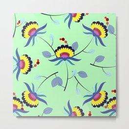 Multicolored floral pattern Metal Print