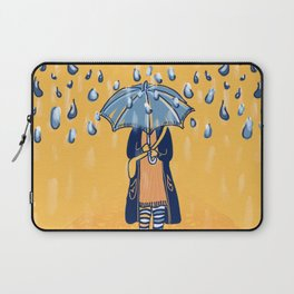 Rainy day girl Laptop Sleeve