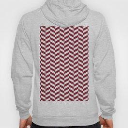 Burgundy Red Herringbone Pattern Hoody