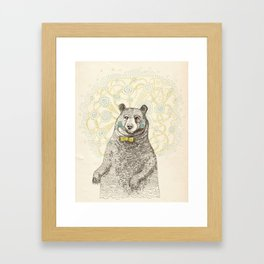 Smarter than the average bear Framed Art Print