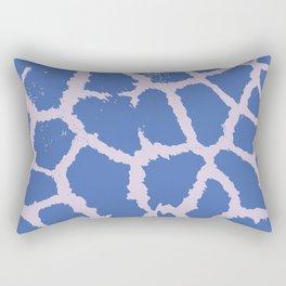 Giraffe pattern Blue Rectangular Pillow