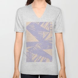 Modern lilac ivory violet geometrical shapes patterns Unisex V-Neck