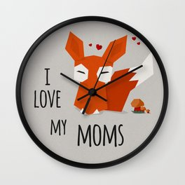 I Love my mums Wall Clock