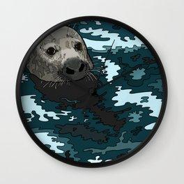 Grey Seal Wall Clock
