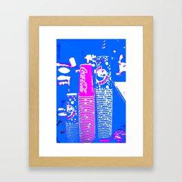 PAPER CUPS Framed Art Print