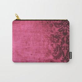 Pink damask Carry-All Pouch